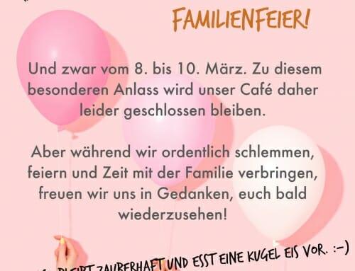 Familienfest vom 8.03 bis 10.03